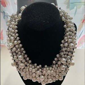 Beautiful pearl necklace and earrings